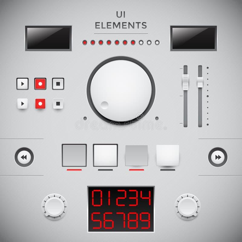 Конструкция пользовательского интерфейса. GUI бесплатная иллюстрация