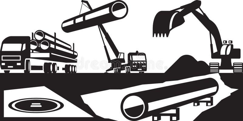 Конструкция подземных трубопроводов бесплатная иллюстрация