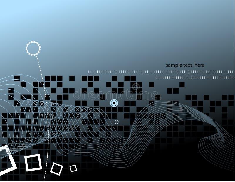 конструкция предпосылки высокотехнологичная иллюстрация вектора