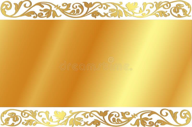 конструкция предпосылки золотистая иллюстрация вектора