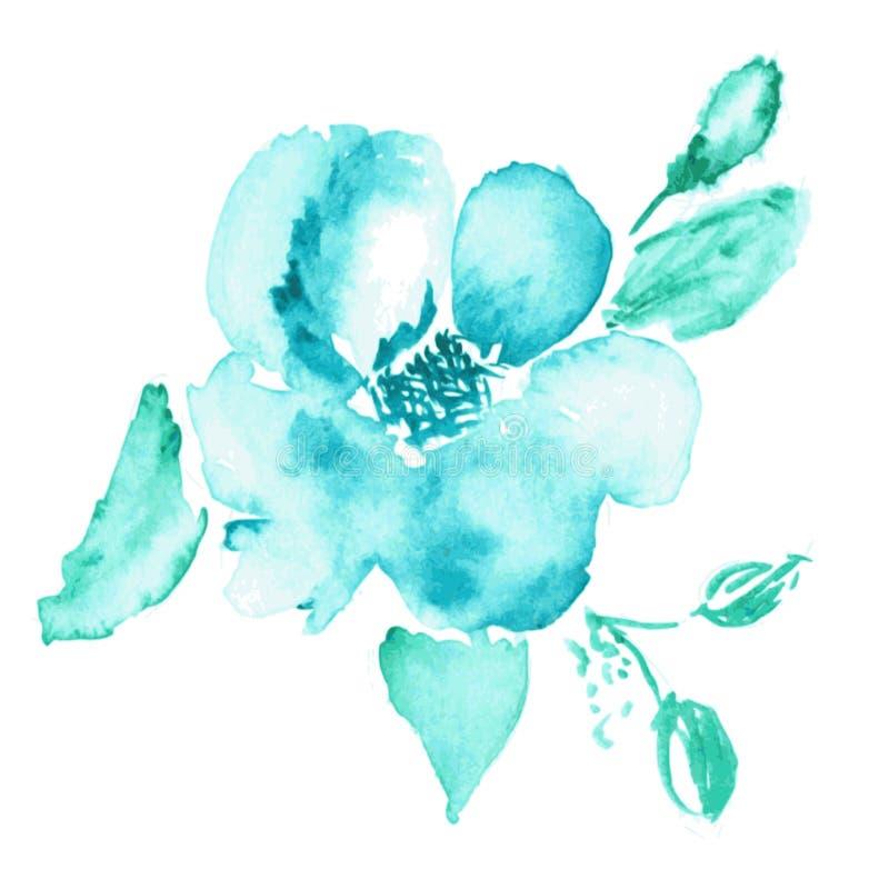 конструкция предпосылки флористическая идеально использует вектор ваш Акварель флористическая иллюстрация вектора