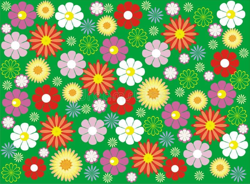 Конструкция предпосылки цветка безшовная бесплатная иллюстрация
