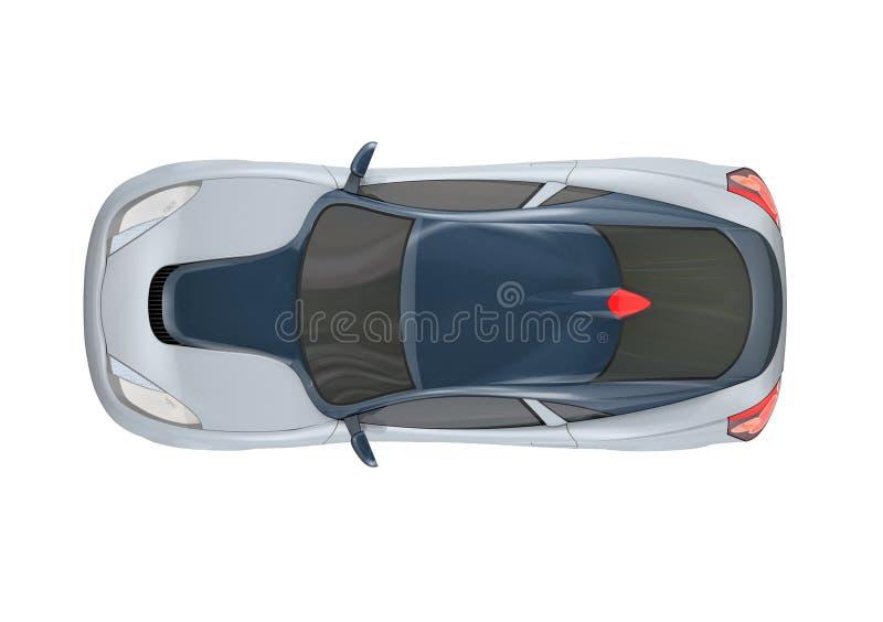 конструкция принципиальной схемы автомобиля 3d иллюстрация вектора
