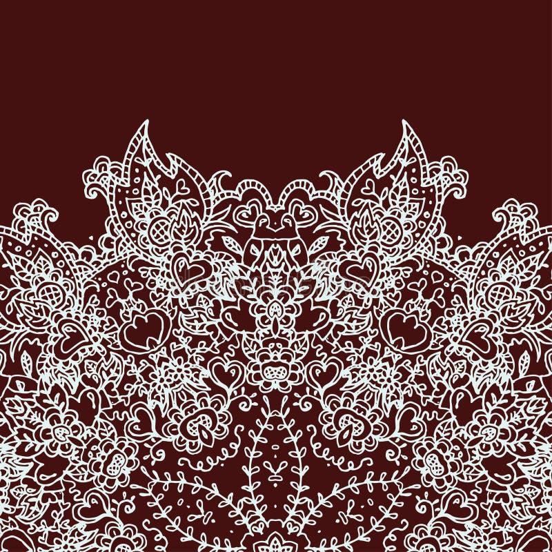 Карточка приглашения год сбора винограда с орнаментом шнурка стоковое фото rf