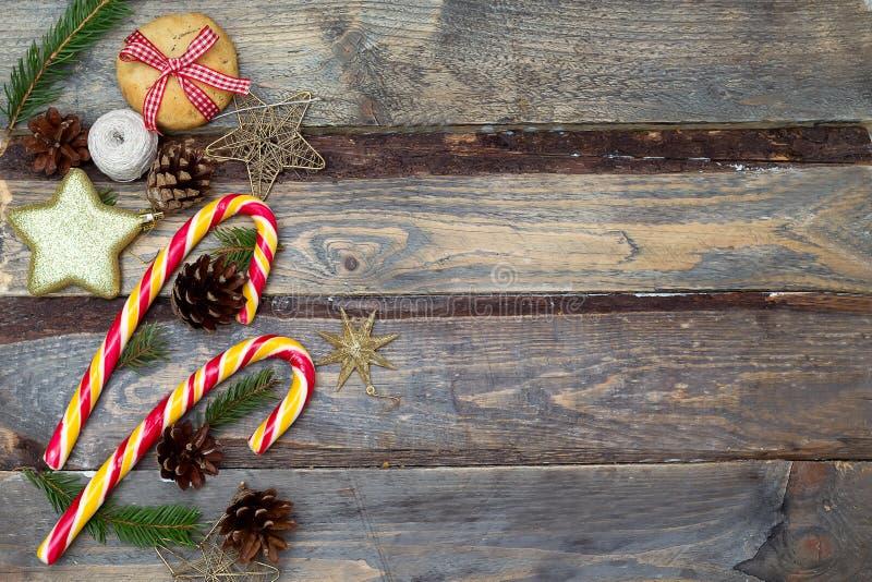 конструкция рождества предпосылок вы Рождество забавляется, конфеты рождества на wo стоковое изображение rf