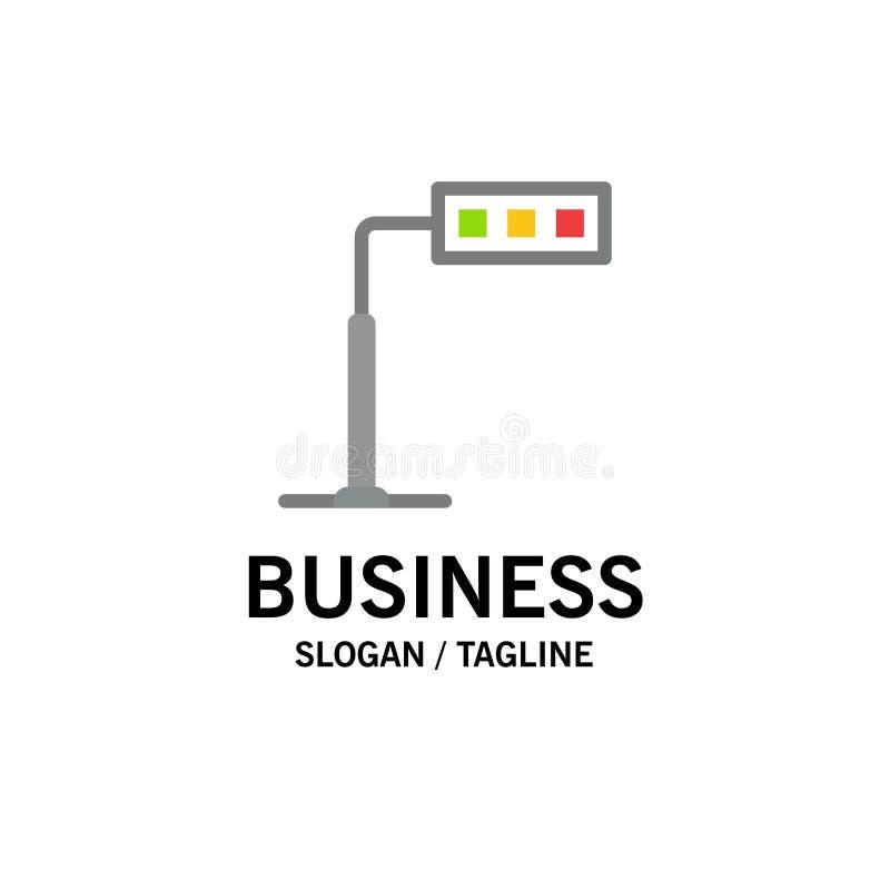 Конструкция, свет, башня, шаблон логотипа дела дороги r иллюстрация штока