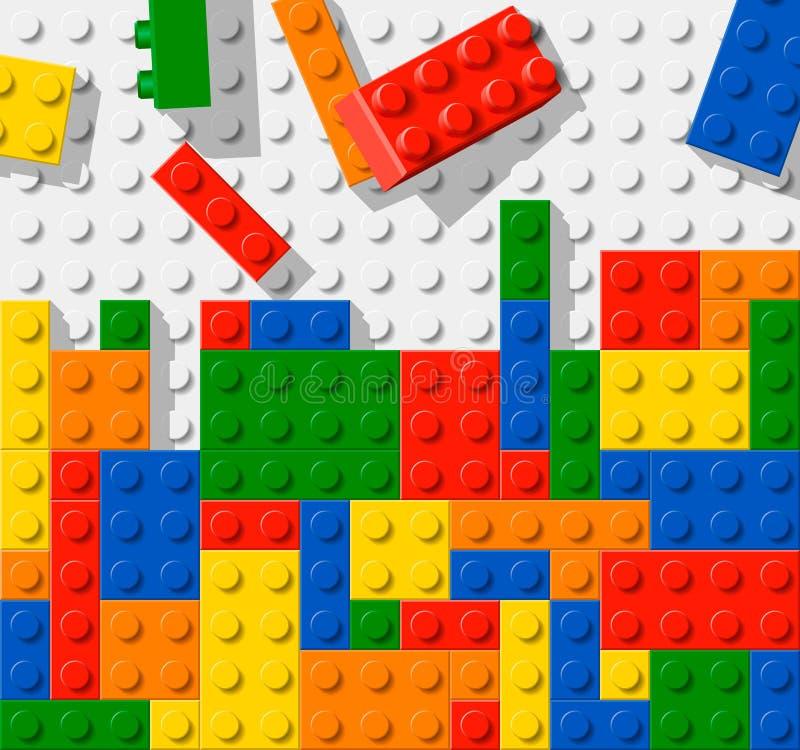 Конструкция сделанная от пластичных блоков конструкции иллюстрация штока