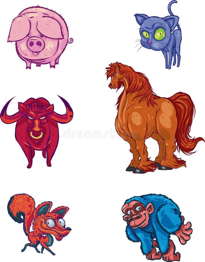 конструкция собрания характера 005 животных иллюстрация вектора