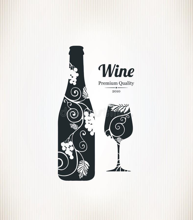 Конструкция списка вина иллюстрация штока