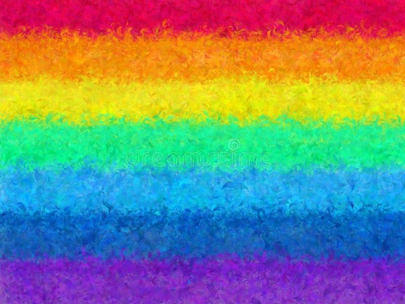 Конструкция текстуры из радуги 'Фур' для использования в качестве фрагмента фона или элемента бумаги Радужный узор абстрактно сем стоковое изображение rf