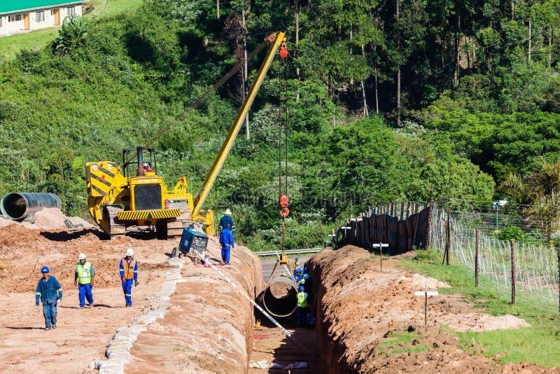 Конструкция трубопровода мост-водовода воды стоковая фотография