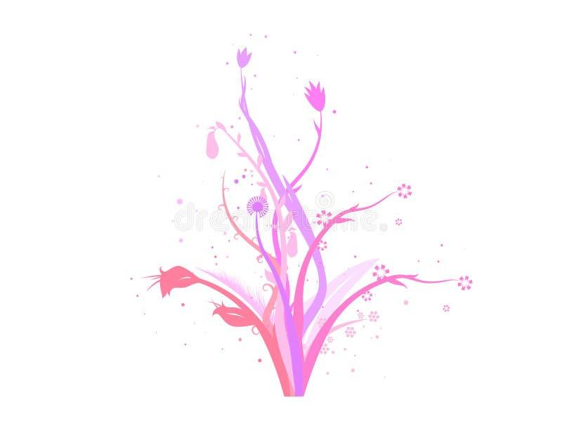 конструкция украшения цветет вектор иллюстрация вектора