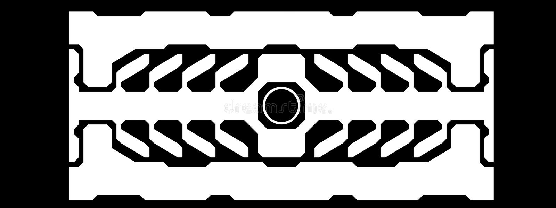 конструкция футуристическая иллюстрация вектора