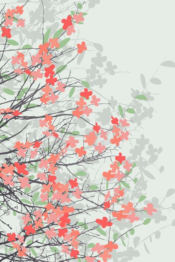 Печать цветения весны бесплатная иллюстрация