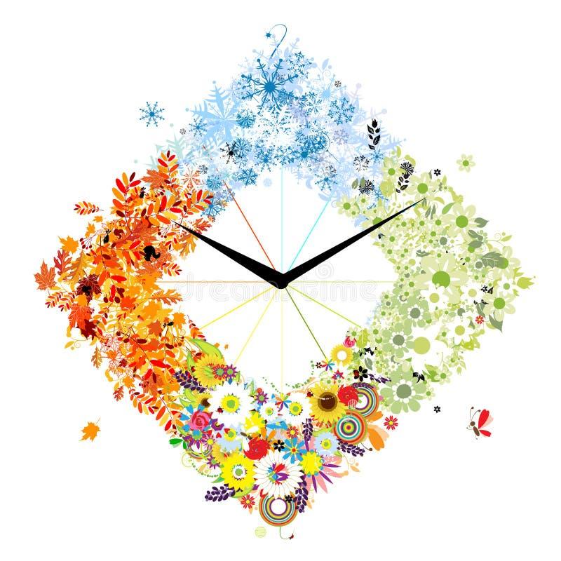 Конструкция часов. 4 сезона, принципиальная схема. бесплатная иллюстрация