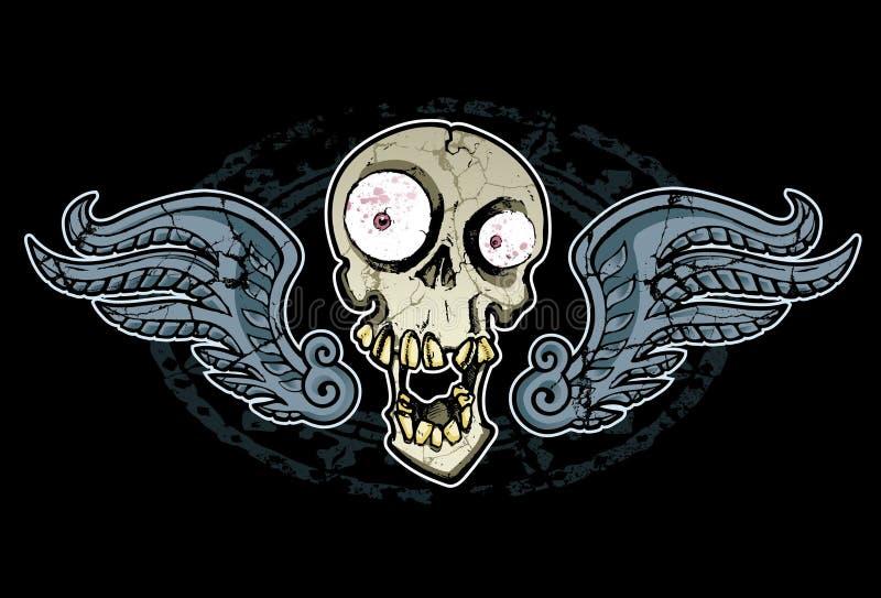 Шальные череп и крыла бесплатная иллюстрация