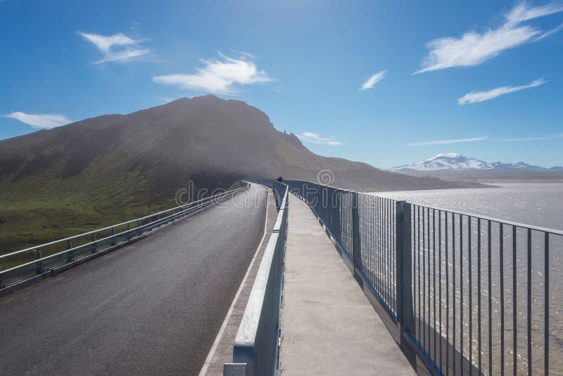 Конструкция электростанции Fljotsdalur ГЭС, Исландия запруды Karahnjukar стоковое фото
