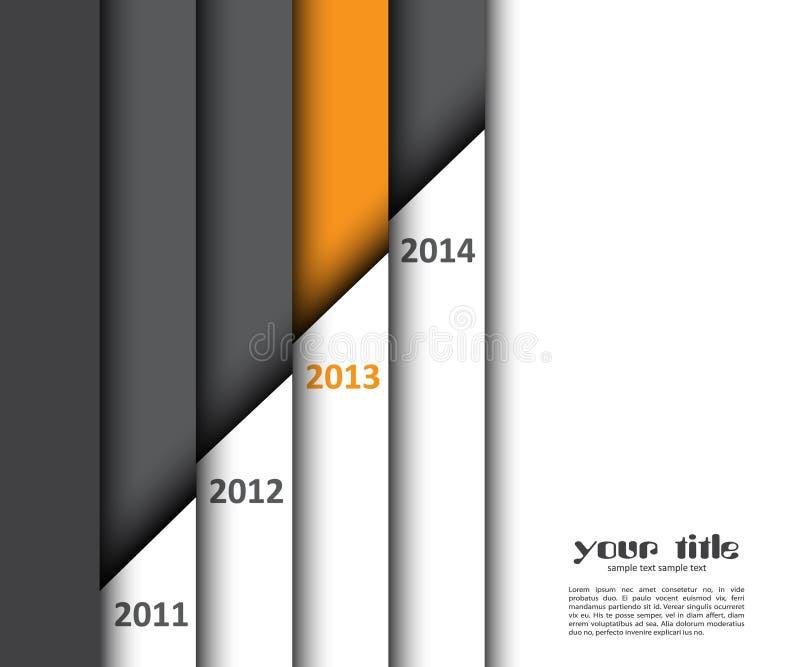 конструкция 3d с знаменами года бесплатная иллюстрация
