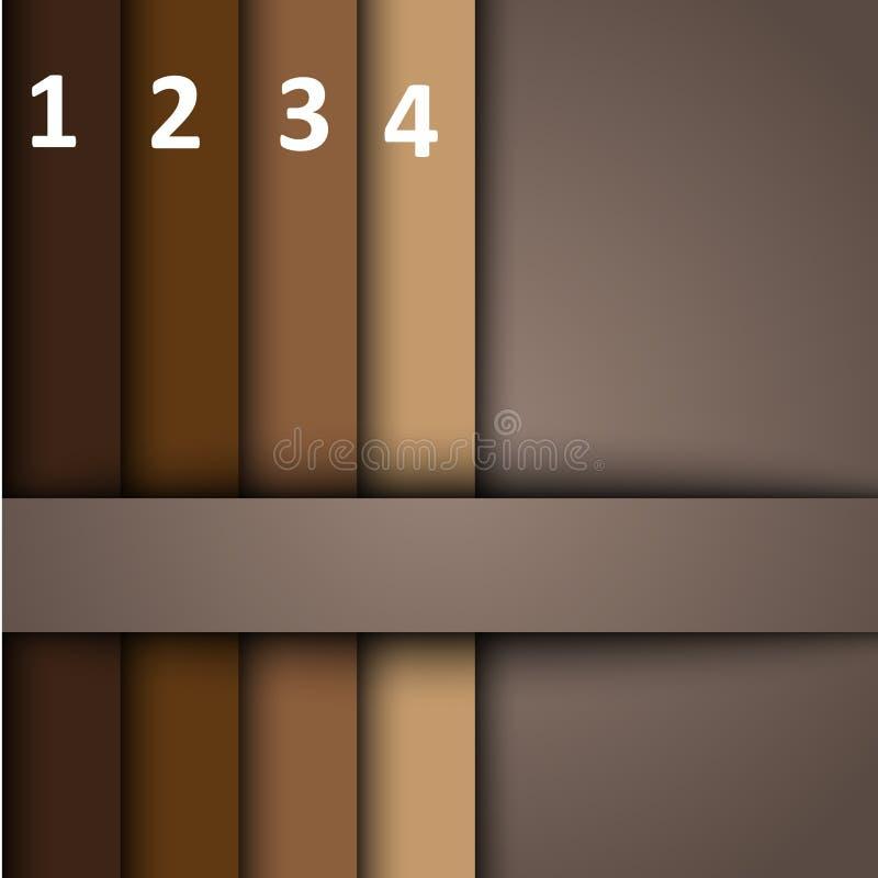 конструкция 3d с коричневыми знаменами иллюстрация вектора