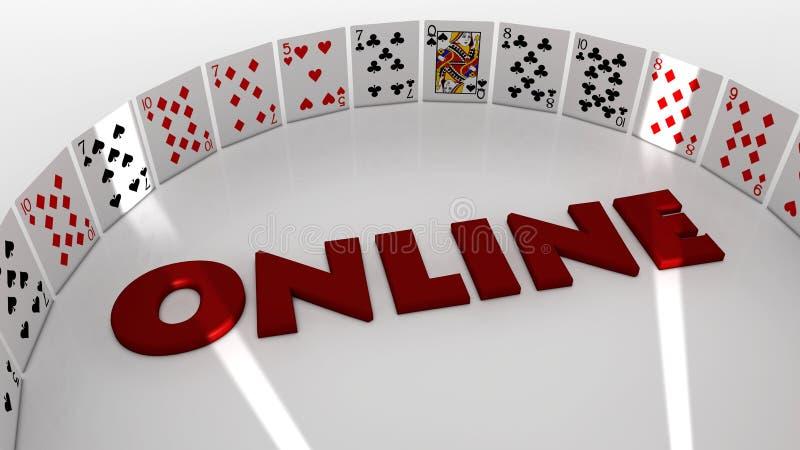 Покер он-лайн иллюстрация вектора