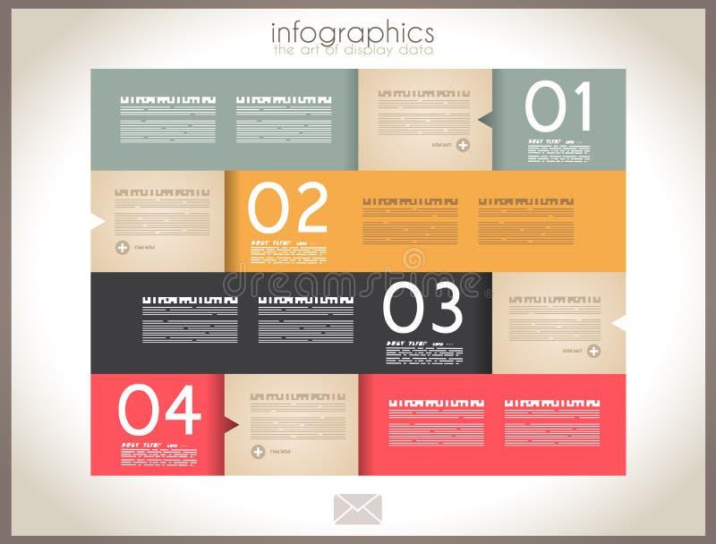 Конструкция Infographic - бирки первоначально бумаги иллюстрация вектора