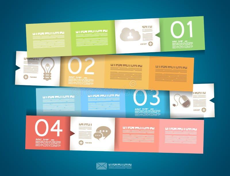 Конструкция Infographic - бирки первоначально бумаги бесплатная иллюстрация