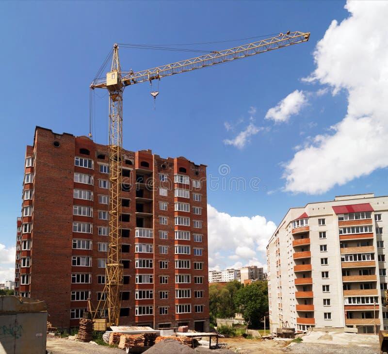 Конструкция multi жилого дома стоковая фотография
