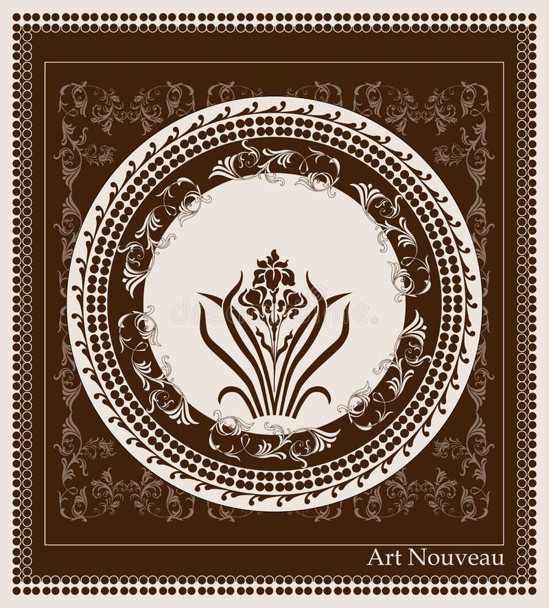 Конструкция nouveau искусства бесплатная иллюстрация