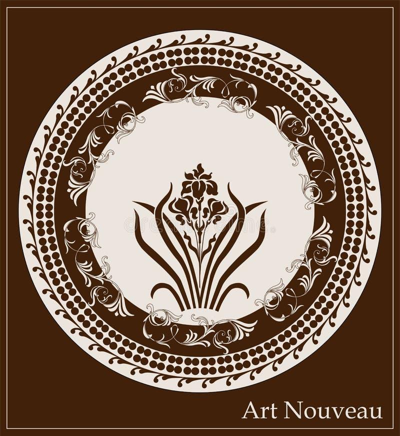 Конструкция nouveau искусства иллюстрация штока
