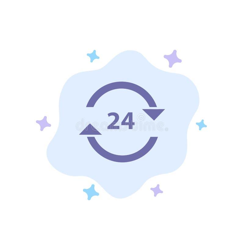 Консьерж, гостиница, никакое, круглосуточно, обслуживание, значок стопа голубой на абстрактной предпосылке облака бесплатная иллюстрация