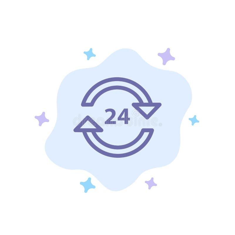 Консьерж, гостиница, никакое, круглосуточно, обслуживание, значок стопа голубой на абстрактной предпосылке облака иллюстрация штока