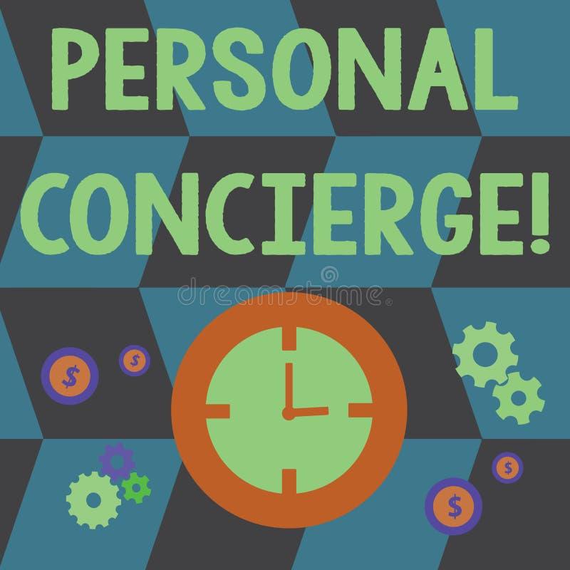 Консьерж текста сочинительства слова личный Концепция дела для кто-то которое сделает расположения или побежит время errands бесплатная иллюстрация