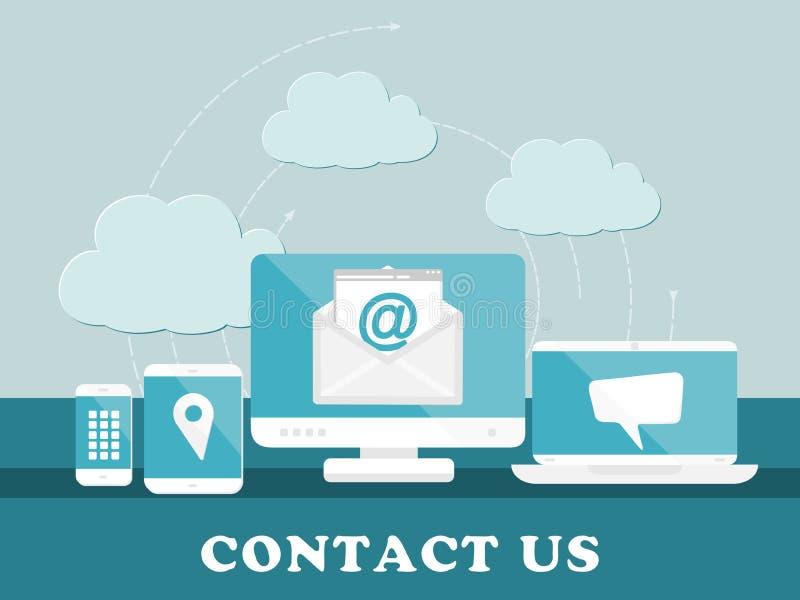 контактируйте почту позвоните по телефону нам бесплатная иллюстрация
