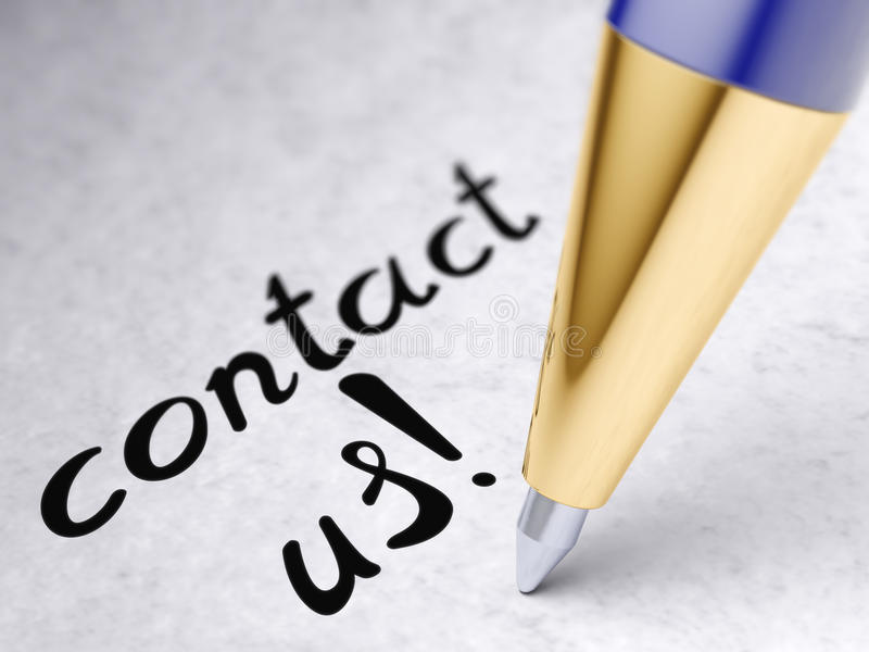 контактируйте почту позвоните по телефону нам стоковые фотографии rf