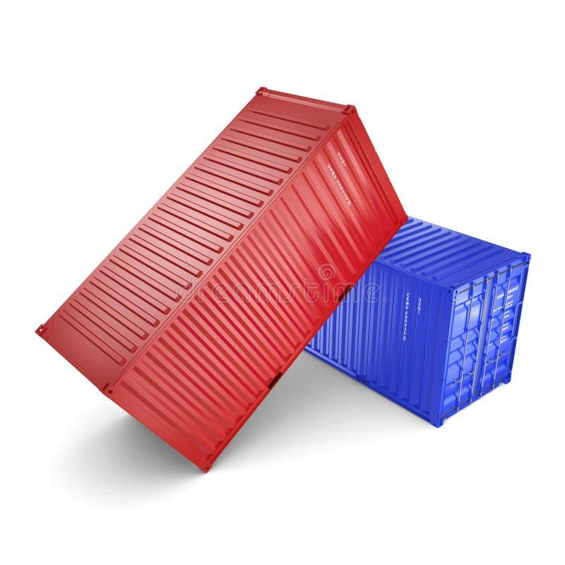 контейнеры перевода 3D иллюстрация штока