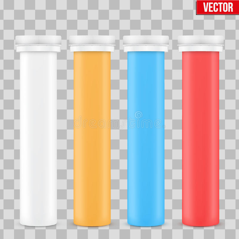 Контейнер бутылки витамина модель-макета пластичный иллюстрация штока
