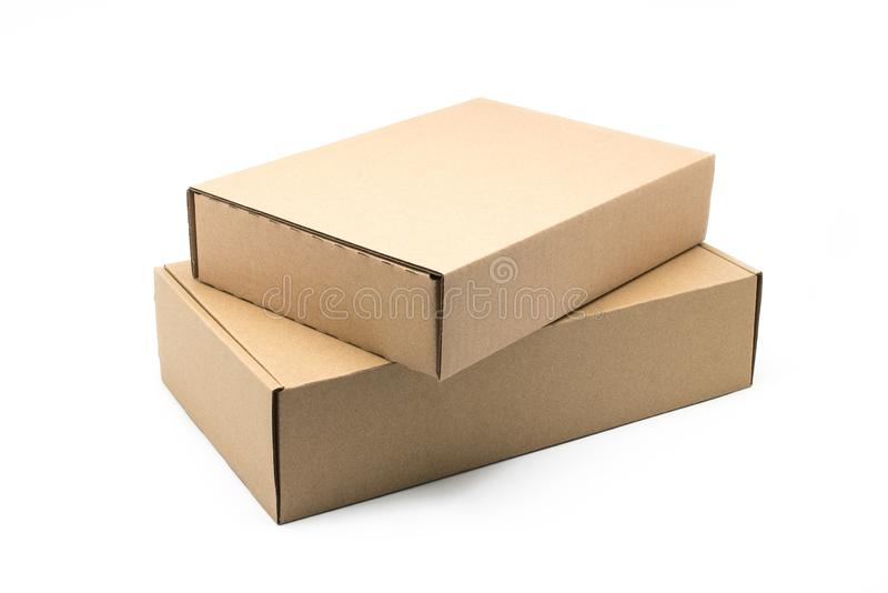 Контейнер коробки ремесла на белой предпосылке стоковые фотографии rf