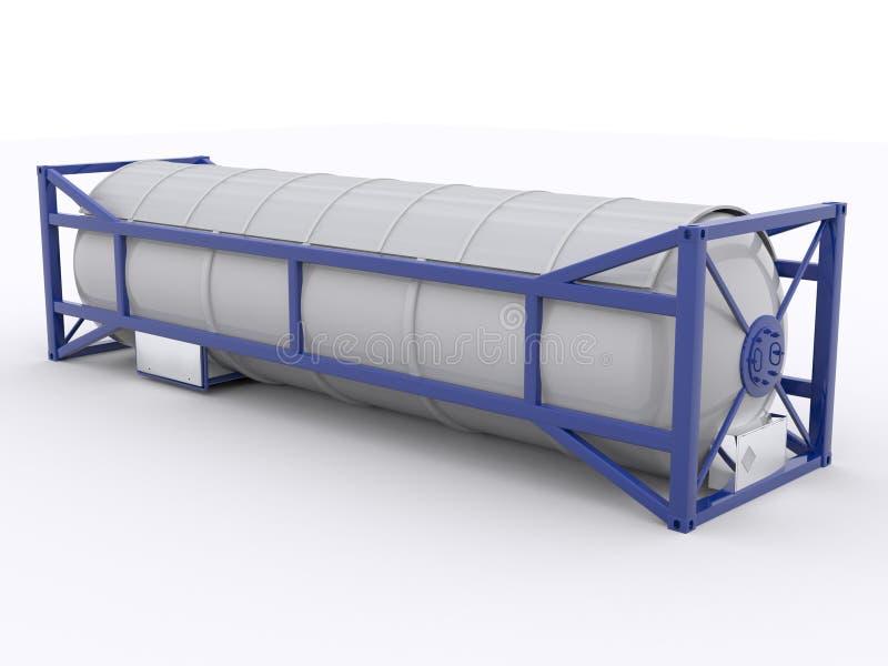 контейнер танка 30ft иллюстрация вектора