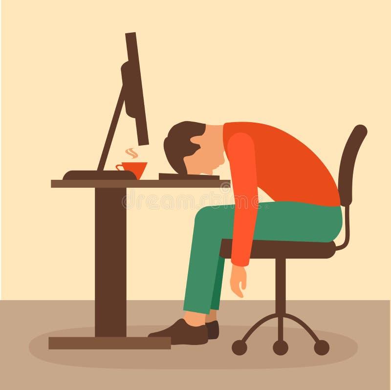 Конторская работа, работник стола бесплатная иллюстрация