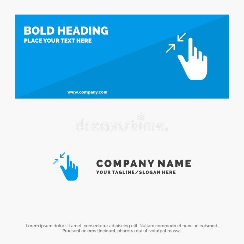Контракт, жесты, интерфейс, щипок, знамя вебсайта значка касания твердые и шаблон логотипа дела иллюстрация вектора