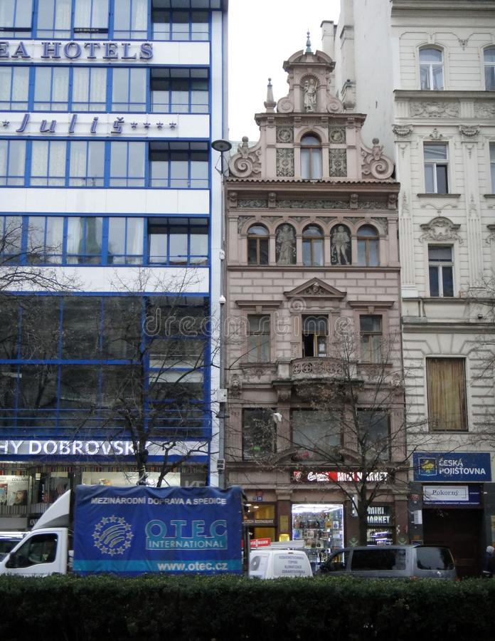 Контрасты к Праге стоковое изображение rf