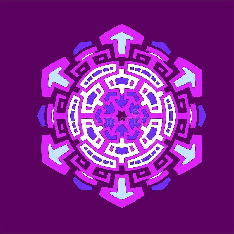 Контраст шестиугольника мандалы стоковое изображение