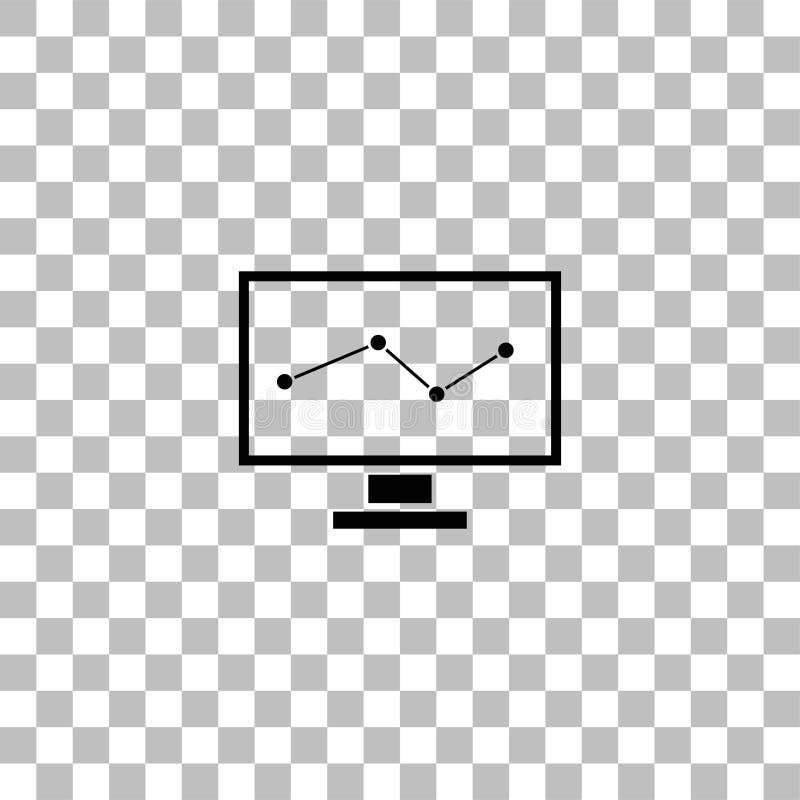 Контролировать квартиру значка иллюстрация вектора
