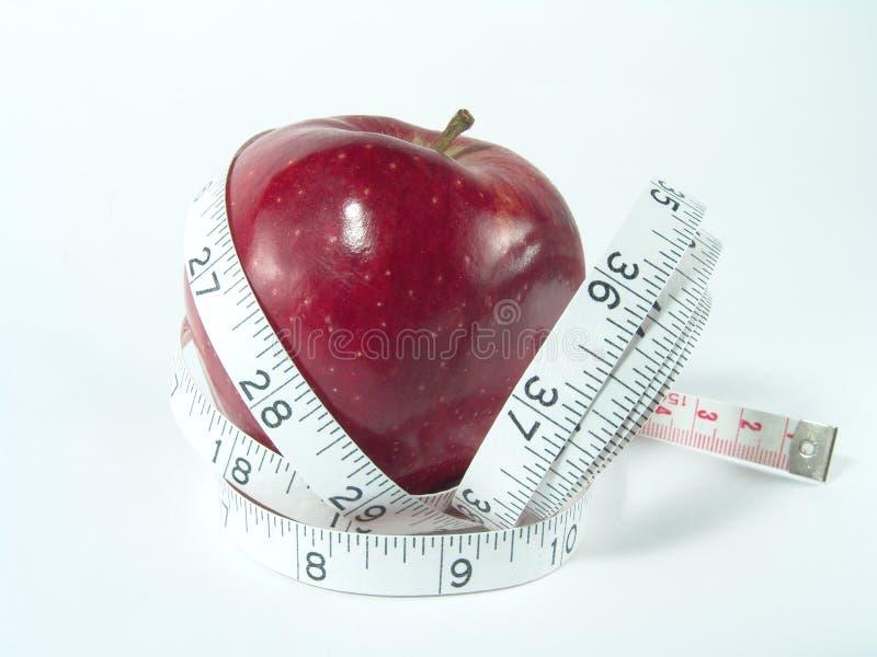 контролируйте вес диетпитания здоровый стоковое фото rf