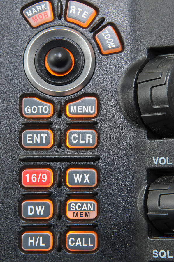 контролируйте морское radion панели стоковая фотография