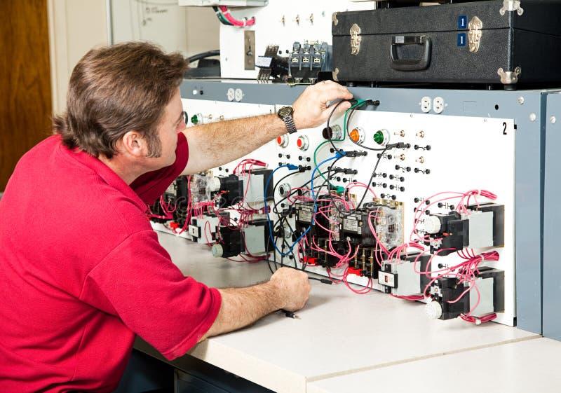 контролируйте мотор электротехники стоковое фото rf