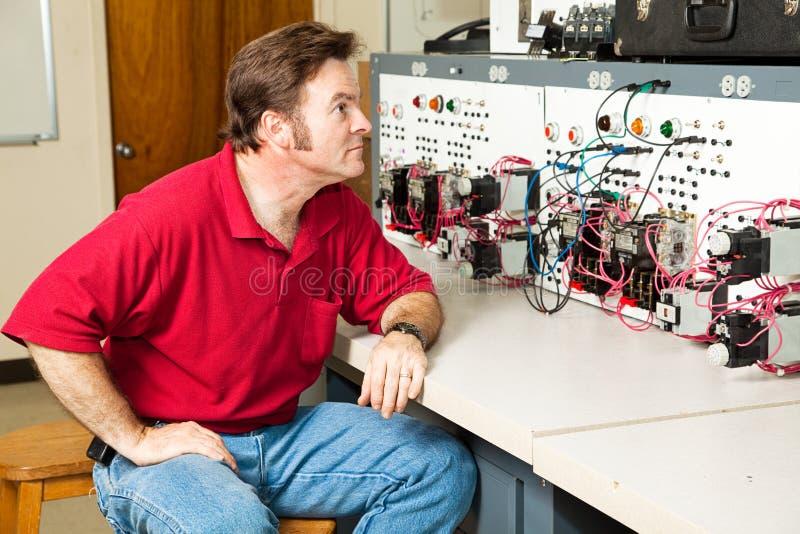 контролируйте электрическую панель мотора стоковые фотографии rf