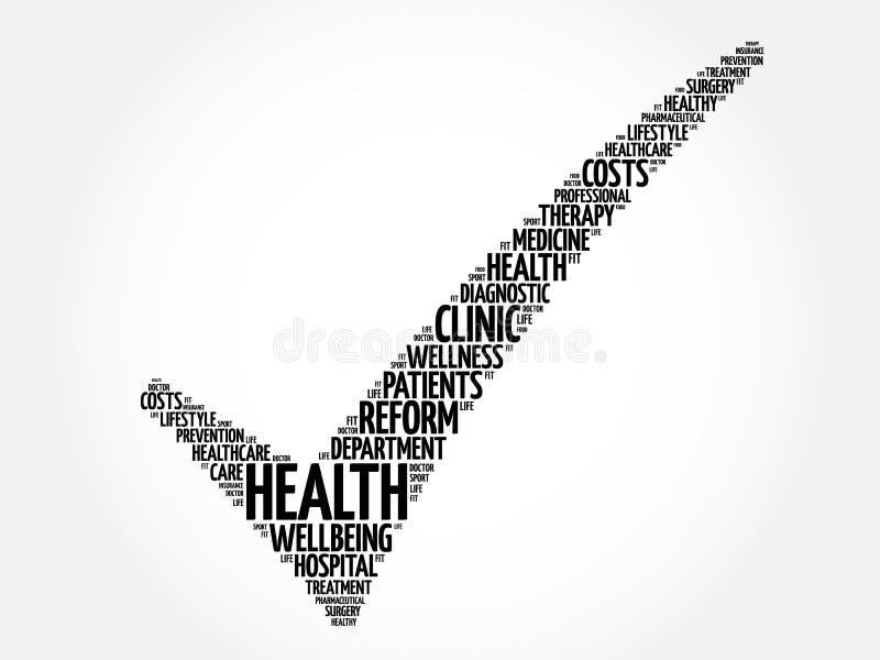 Контрольная пометка медицинского осмотра иллюстрация штока