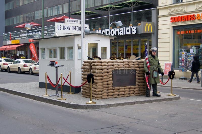 контрольный пункт berlin Чарли стоковые изображения rf