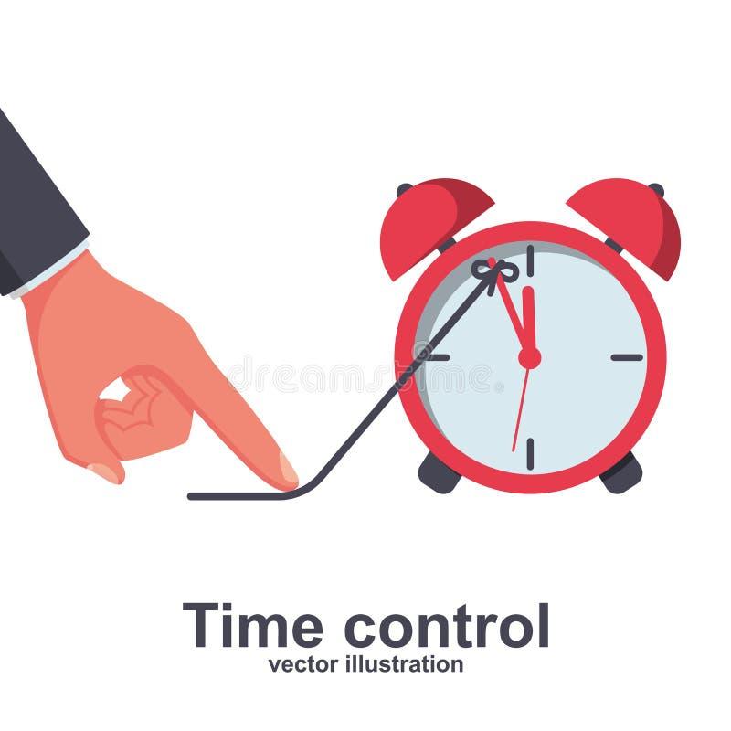 Контроль времени Концепция крайнего срока иллюстрация штока